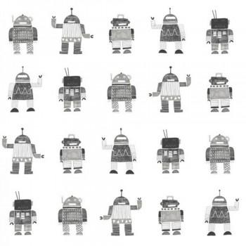 Vliestapete Roboter Grau
