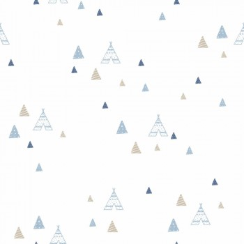 wallpaper tipis light blue beige boys