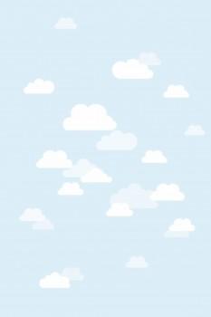 Blau Wolken Wandbild Xl