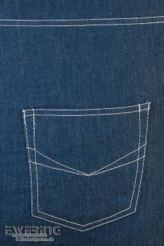 Jeans Kissenhülle Blau Denim