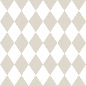 wallpaper rhombus beige white children