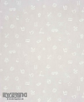 Motive Grau Papiertapete Kinderzimmer