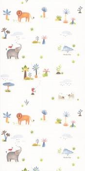 wallpaper jungle animals colorful