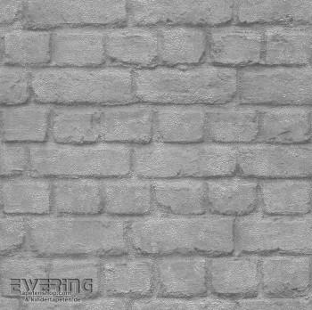 Maueroptik Silber Papiertapete