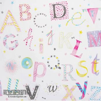Buchstaben Creme-Weiß Papier