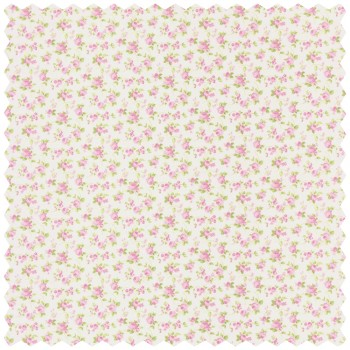 Deco Fabric Flower Pink Green
