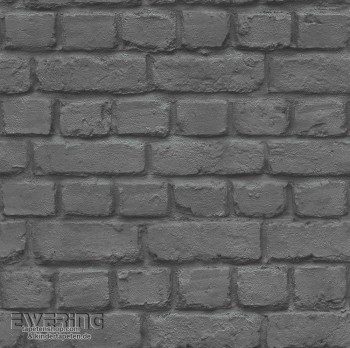 Schwarz Maueroptik Papiertapete