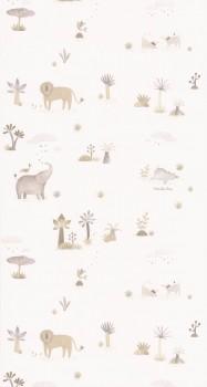 wallpaper animals jungle beige