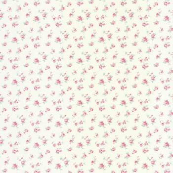 Vlies Tapete Blümchen Pink