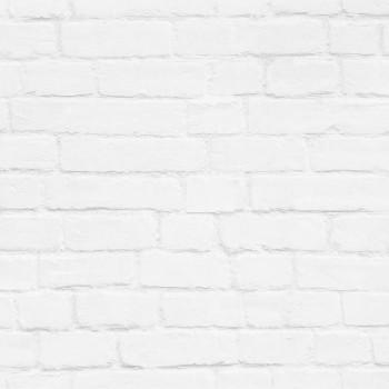 Hell-Grau Vlies-Tapete Steinmauer