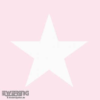 Rosa Vliestapete Stern