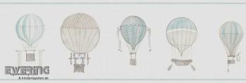 Papier-Borte Hell-Blau Luftballons