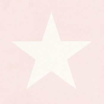 Rosa Tapete Sterne Vlies