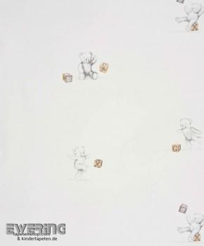 SALE 1 role paper-wallpaper cream bear
