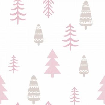 Tapete Bäume Wald Rosa Mädchen
