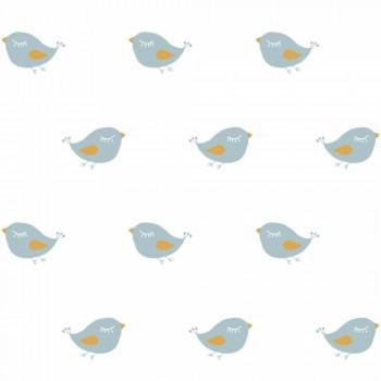 Birds Blue wallpaper white