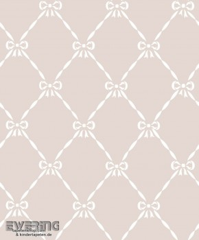 Taupe ribbon wallpaper