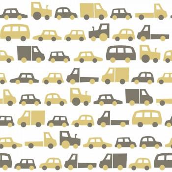 Tapete Ocker Braune Autos