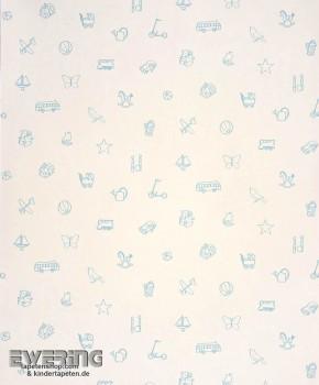 Papiertapete Creme-Weiß Motive