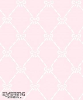 Pink bows non-woven wallpaper