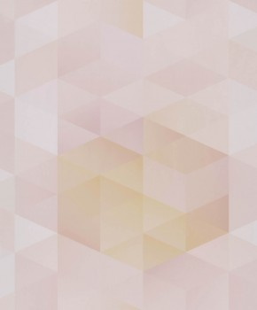 Non-woven wallpaper pink triangles