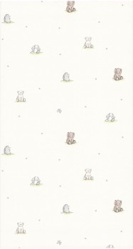 wallpaper cream stuffed animals