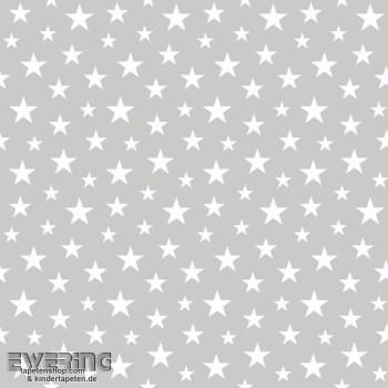 Sterne Grau Vliestapete