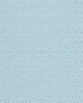 pattern wallpaper shine blue flowers