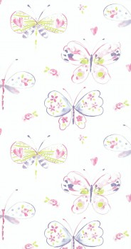 wallpaper butterfly pink