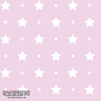 Rosa Dekostoff Sterne Mädchen