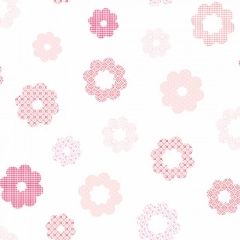Tapete Blumen Rosa Pink