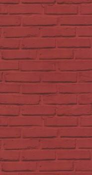Tapete Rot Maueroptik Kinder