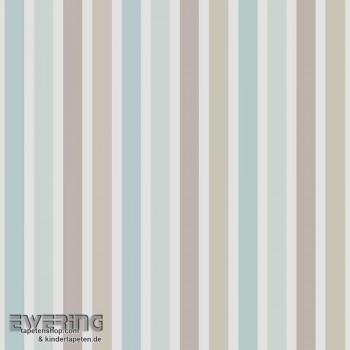 Baumwolle Streifen Dekostoff Blau