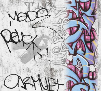 Papiertapete Buntes Graffiti