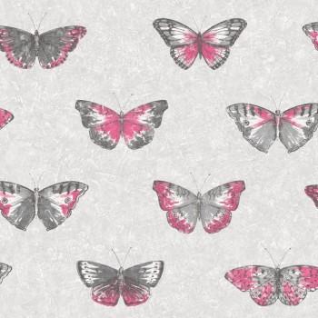 Vliestapete Tiere Pink