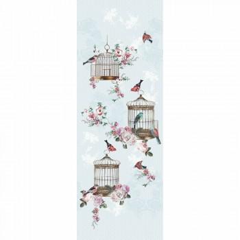 Wandbild Mint-Blau Vlies Vögel