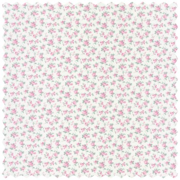 Deco Fabric Green Pink Flower Girl