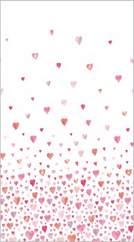 Pink-Red Fabric Panel Heart
