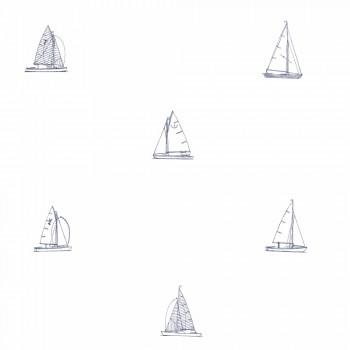 Tapete Weiß Segelboote