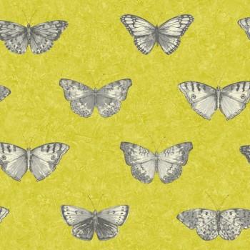 Vliestapete Tiere Gelb