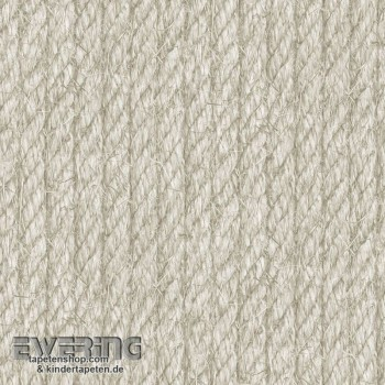 Used Look rope look beige non-woven wallpaper
