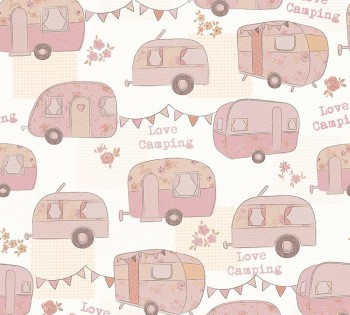 wallpaper Rosa Camping