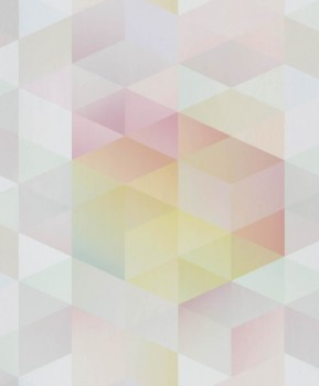non-woven wallpaper triangles coloured pastels