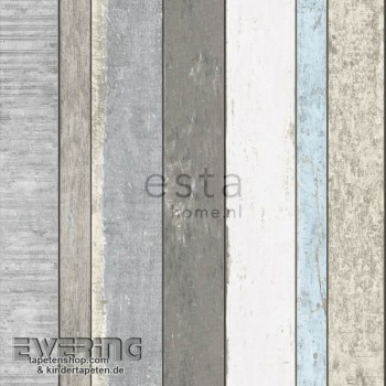 Used Look Grey non-woven wallpaper wood look