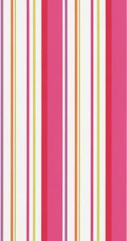 Tapete Streifen Mädchen Pink
