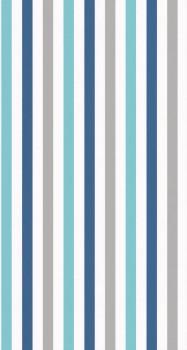 Tapete Streifen Blau Weiß