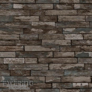 Used Look grey-brown non-woven wallpaper wall