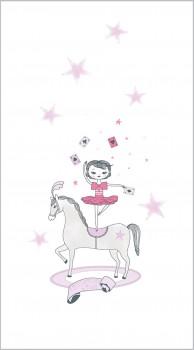Circus fabric panel pink