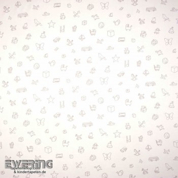 Motifs cream-white decorative fabric