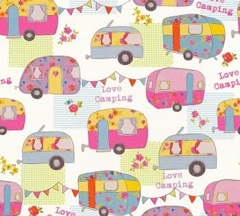wallpaper colorful caravans